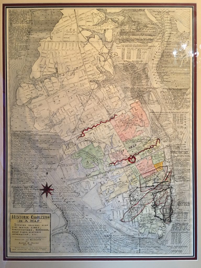 Map of Charleston, South Carolina in 1946