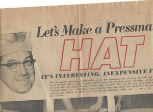 "Bill in the news: ""Let's Make a Pressman Hat"""