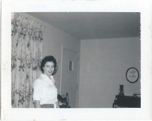 Sandra in the living room