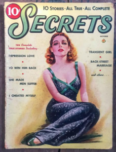 Cover of 10 Secrets Women's Magazine. One woman posing on the cover.